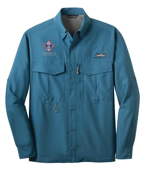EB600 LS Fishing Shirt Gulf Teal