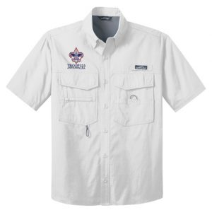 EB608 SS Fishing Shirt White