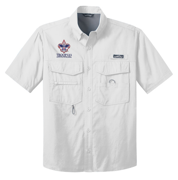 EB608 SS Fishing Shirt White