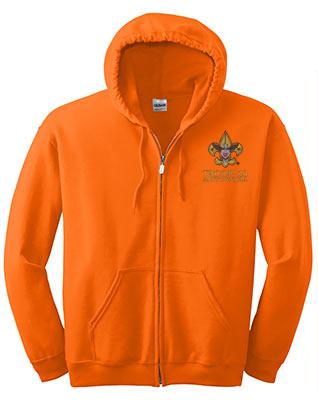 Full_Zip_Hooded_Sweatshirt_SafetyOrange_Embroidered