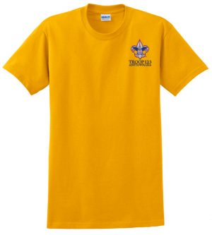 G2000 100 Cotton Tee Gold Embroidered