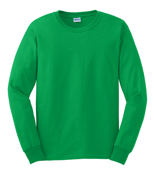 G2400 100 Cotton Long Sleeve Shirt Kelly Green