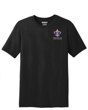 G42000 Gildan Performance Tee Black Embroidered