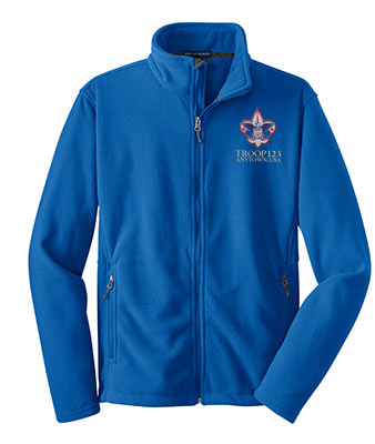 Polyester_Fleece_Jacket_TrueRoyal_Embroidered