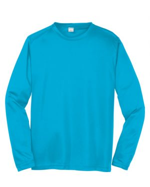 ST350LS Sport-Tek Long Sleeve Competitor Tee Atomic Blue