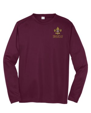 ST350LS Sport-Tek Long Sleeve Competitor Tee Maroon Embroidered